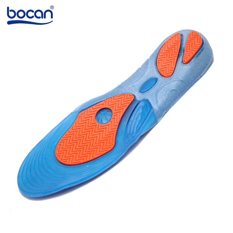 Купить с кэшбэком Bocan Gel Insoles Shock Absorption Soft Comfortable Sport Insoles for Men and Women Foot Pain & Plantar Fasciitis relief, Blue
