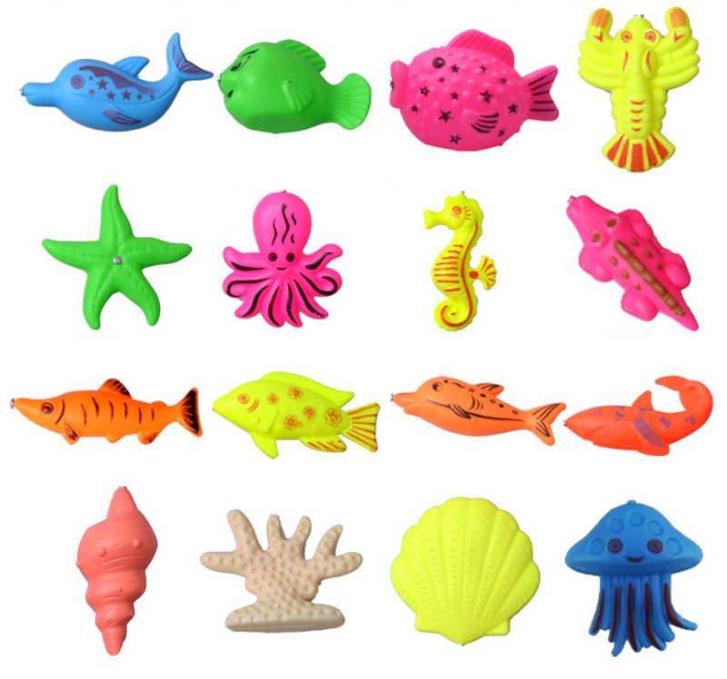 2019 novo conjunto de brinquedos de pesca terno jogar água brinquedos do bebê peixe quadrado magnético presente quente para as crianças brinquedos para crianças frete Grátis GYH
