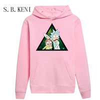 2018Casual Rick Morty Printed Hoodies Spring Autumn Winter Long Sleeved Hooded Tops Casual Hip Pop Pullover
