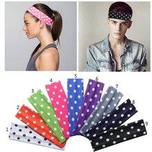 2 inch Polka Dots Prints Boys Girls Softball Cotton Stretch Headbands Cotton Hair Bands Hair Accessories Multi Colors