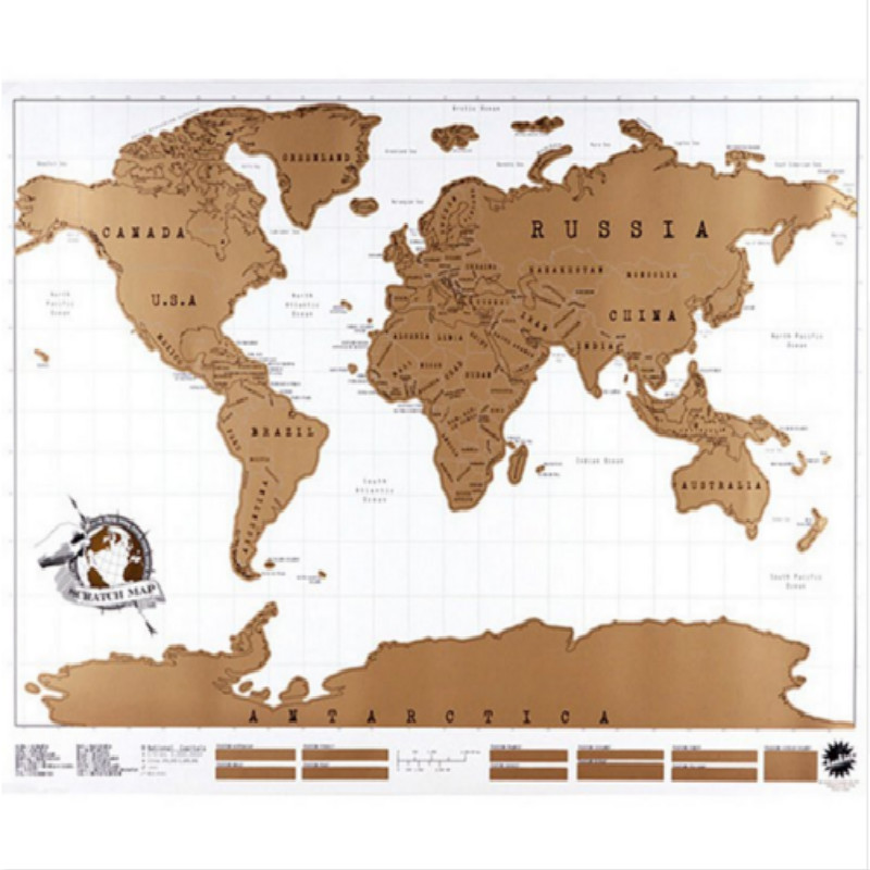 Travel scratch off world map personalized map poster traveler travel scratch off world map personalized map poster traveler vacation log national geographic world map wall sticker home decor in wall stickers from home gumiabroncs Gallery