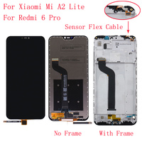 With Frame 5.84 For Xiaomi Mi A2 Lite LCD Display Touch Screen Digitizer Assembly Replacement for Xiaomi Redmi 6 Pro LCD Screen