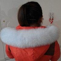 Russian natural fox fur collar fashion men's women's hat brim hat black shawl scarves LZ91