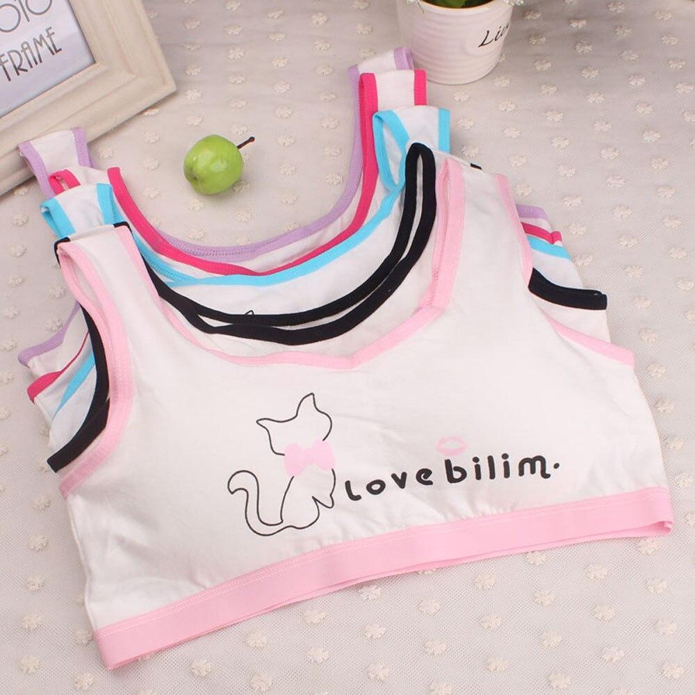 Baby Girl Underwear New Lovely Girls Printing Underwear Bra Vest Children Underclothes Sport Undies