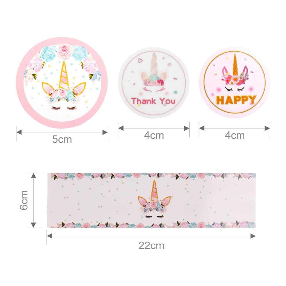 PATIMATE Unicorn Stickers Bottle Stickers Thank You Sticker Seal Labels Rainbow Unicorn Party Decor Unicron Birthday Party Decor in Party DIY Decorations from Home Garden