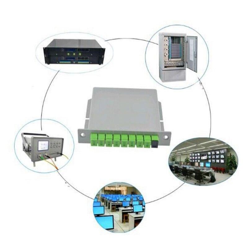 Image 4 - 10PCS/packet SC APC PLC 1X8 splitter Fiber Optical Box FTTH PLC  Splitter box with 1X8 Planar waveguide type Optical splitter-in Fiber  Optic Equipments from Cellphones