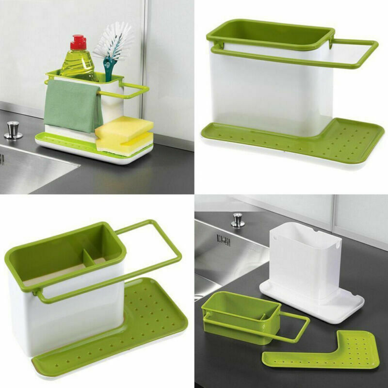 Kitchen Sponge Drainage Rack Multi function Dishes From