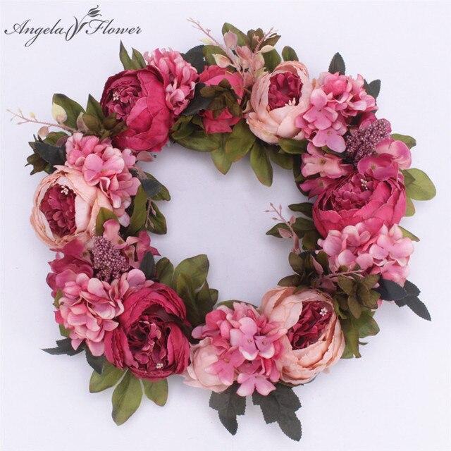 Diy Artificial Flower Garland Rose Wreath Home Wedding Garden Party