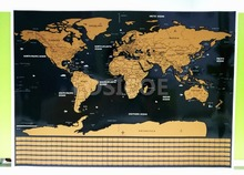все цены на Big size world scratch wall map Deluxe Edition Scratch World Map With Scratch Off Layer Visual Travel Journal for travel maps A1 онлайн