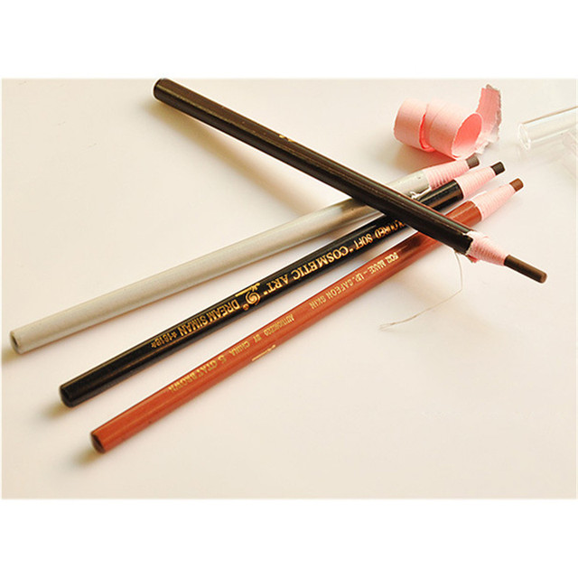 Soft Cosmetic Makeup Safe on Skin Eyebrow Pencil with Tearing Thread