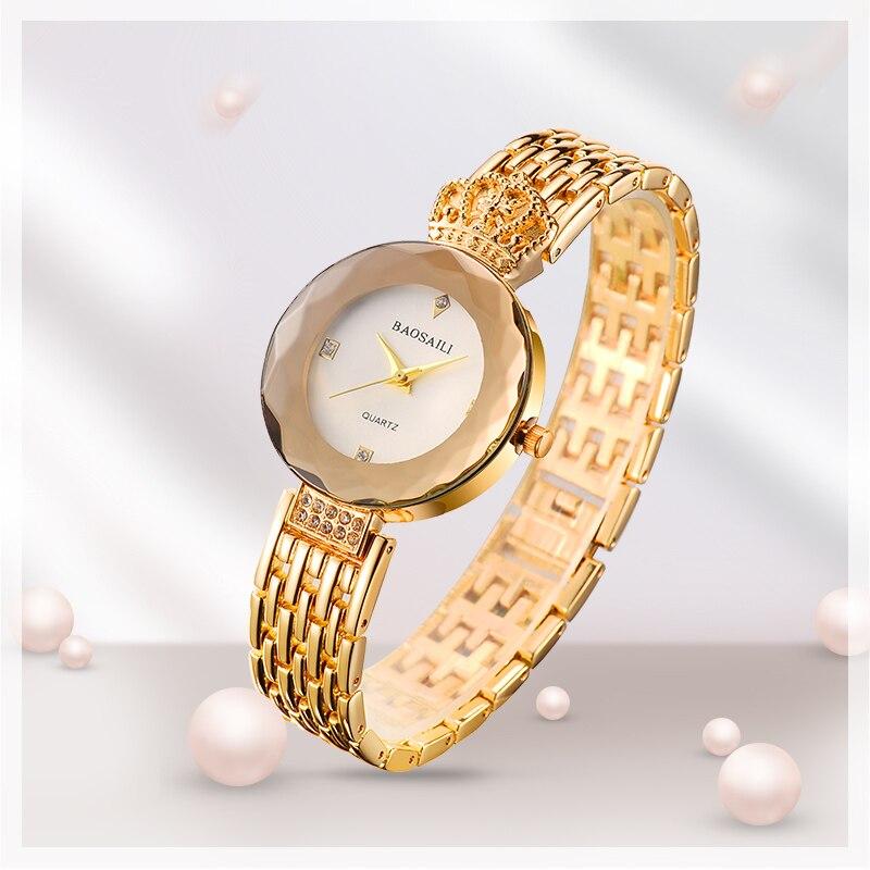 ⑥BAOSAILI Brand Sapphire Women Watches Rose Gold Watches