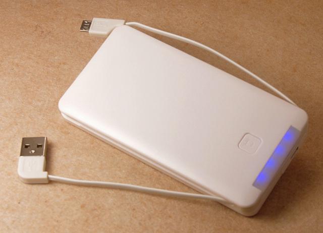 Carregador portátil 6000 mah Bateria Externa Banco de Potência com Construído em um Cabo USB de Backup Powerbank Móvel Batterie Externe