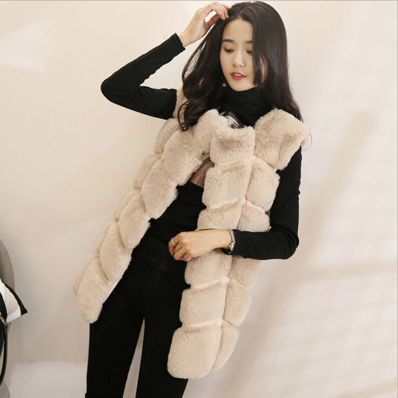Высококачественная меховая жилетка, роскошное пальто из искусственного лисьего меха, теплое Женское пальто, жилетки, Зимняя мода, меховые женские пальто, куртка, жилетка, жилет, 4XL