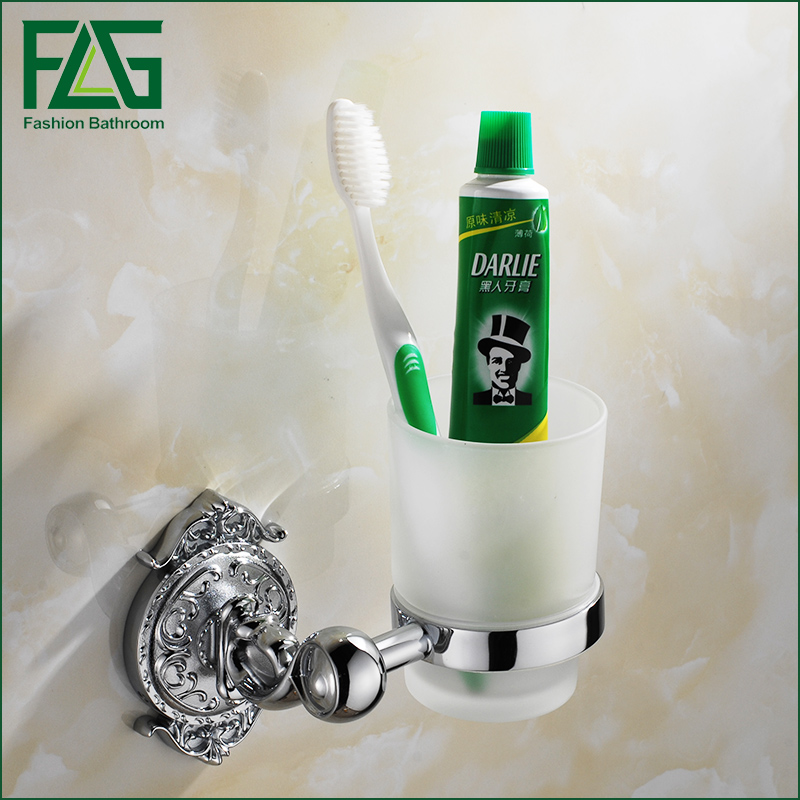 FLG Luxury Chrome Wall mounted Toothbrush Tumbler Bathroom Accessories Single Cup Tumbler Holders,Toothbrush Cup Holders flg bathroom accessories wall mounted tumbler holder cup