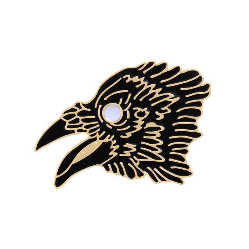 Gelap Fashion Enamel Pin Sepatu Boots Buku Poker Eagle Bros untuk Pria Wanita Punk Koboi Sweter Mantel Dekorasi Fashion Perhiasan