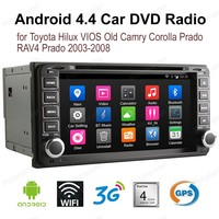 Android4.4 7 inch Car DVD For T/oyota H/ilux V/IOS Old C/amry C/orolla Pr/ado R/AV4 Pr/ado 2003 2008 2 din FM AM GPS radio