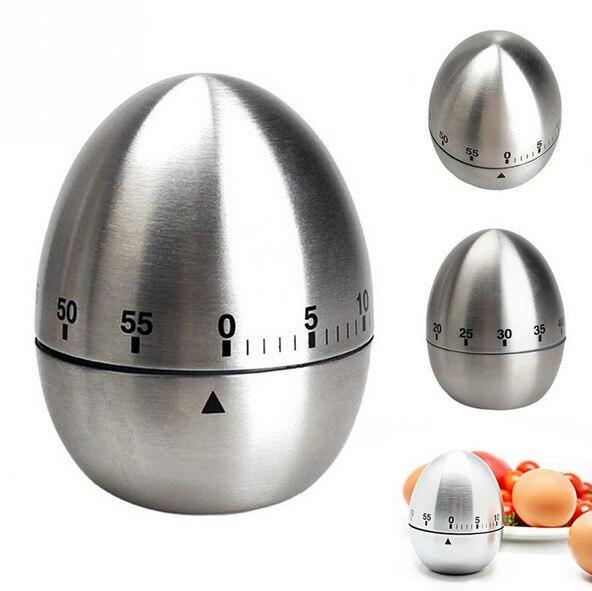 US $4.69 6% di SCONTO In Acciaio Inox Strumento di Cottura Meccanica Egg  Timer Da Cucina Cooking Allarme Orologio 60 Minuti Timer Da Cucina Uovo per  ...