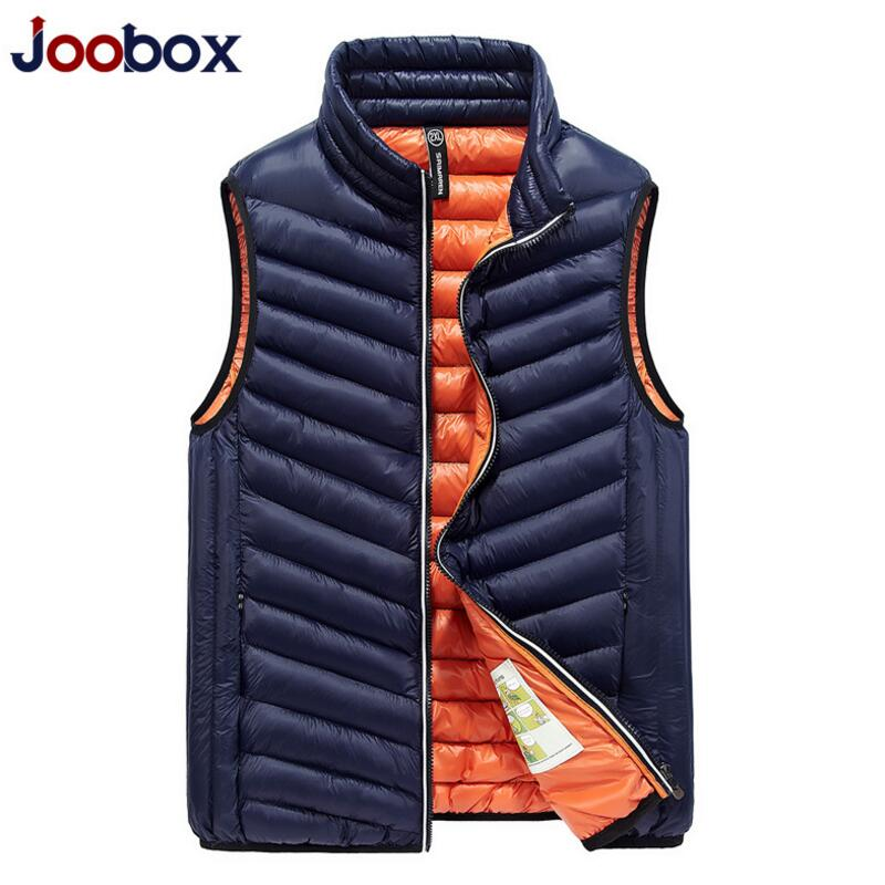 2017 New Fashion Winter Duck Down Vest Men Ultra Light Brand Vest Slim Waistcoat Men Vest