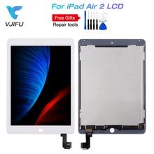 IPad 6 LCD 용 iPad Air 2 A1566 A1567 LCD 디스플레이 어셈블리 터치 스크린 디지타이저 패널 교체 풀 세트 reapir 도구