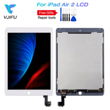 IPad 6 için iPad hava 2 A1566 A1567 LCD ekran meclisi dokunmatik ekran digitizer paneli yedek tam set tamir araçları