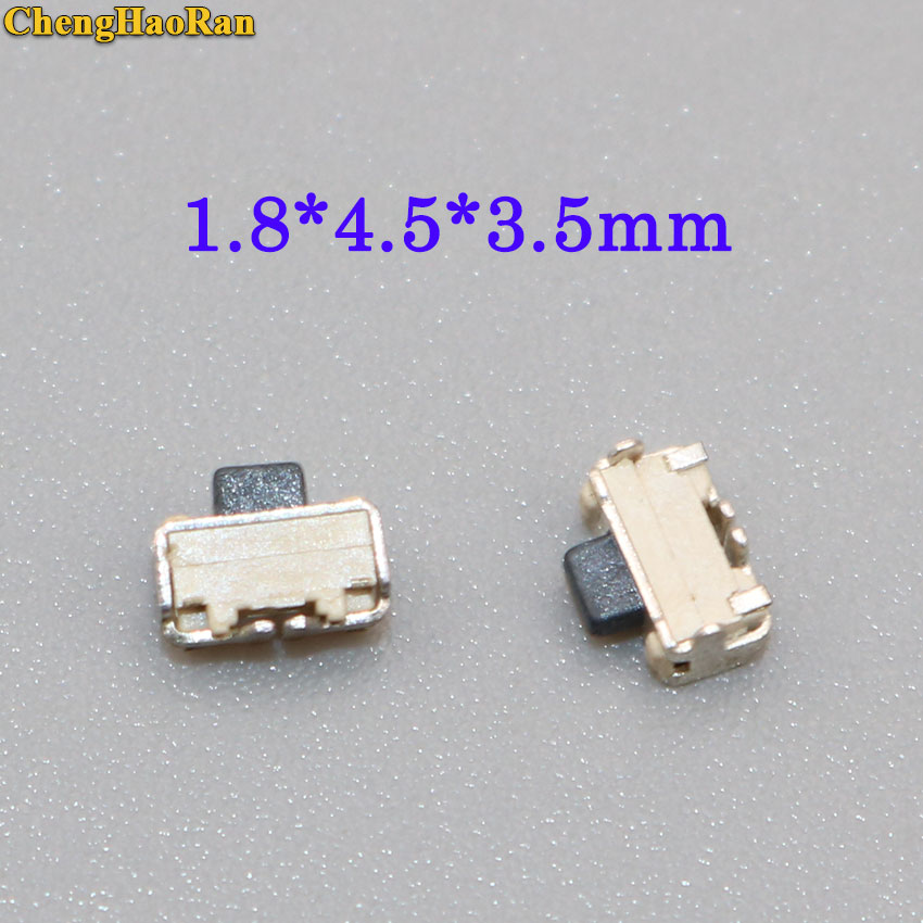 ChengHaoRan 50pcs/100pcs Reel Packing Tactile button key Switch Momentary Tact Button 1.8x4.5x3.5mm(2X4mm) for phone side push