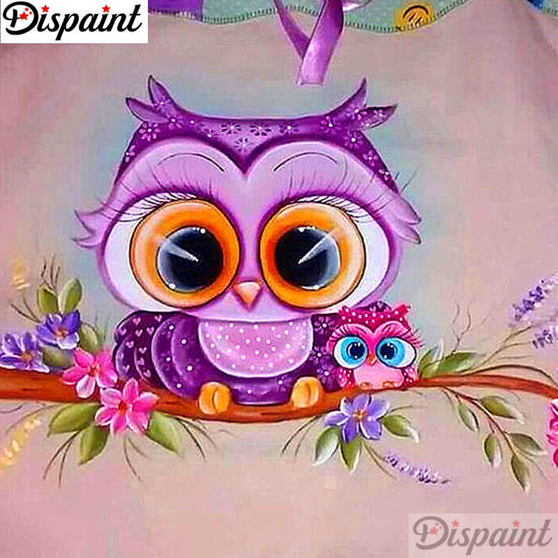 "Dispaint Full Square/Round Drill 5D DIY Diamond Painting ""Cartoon owl"" Embroidery Cross Stitch 3D Home Decor A11217"