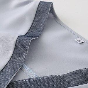 Image 5 - คุณภาพสูงแฟชั่นผู้หญิงVคอเสื้อ 2019 ใหม่ครึ่งแขนหลวมเสื้อชีฟองเสื้อOLอารมณ์ผู้หญิงบวกขนาดเสื้อ