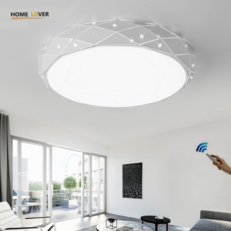 Modern ceiling lamp for Living room Bedroom Kitchen Fixtures Plafon led ceiling light with remote control indoor home lighting new modern led ceiling lights for living room bedroom plafon home lighting combination white and black home deco ceiling lamp