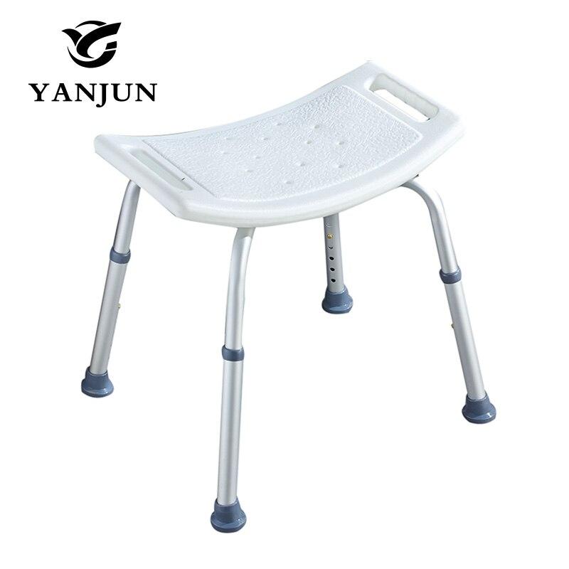 YANJUN Adjustable Aluminium Height Bath and Shower Seat Shower Bench Bathroom Safety Shower Chair Tub Bench Chair YJ-2051A