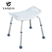 YANJUN Adjustable Aluminium Height Bath and Shower Seat Shower Bench Bathroom Safety Shower Chair Tub Bench Chair YJ-2051A