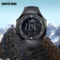 BORDA Moda Esporte Relógio Marca de Homens DO NORTE Ao Ar Livre Altitude Escalada Relógio Altímetro Barômetro Relógio Led Relógio Digital Homens Relojes