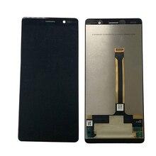 """Tela original de 6.0 """"para nokia 7 plus, display touch screen, substituição do digitalizador lcd ta 1062"""
