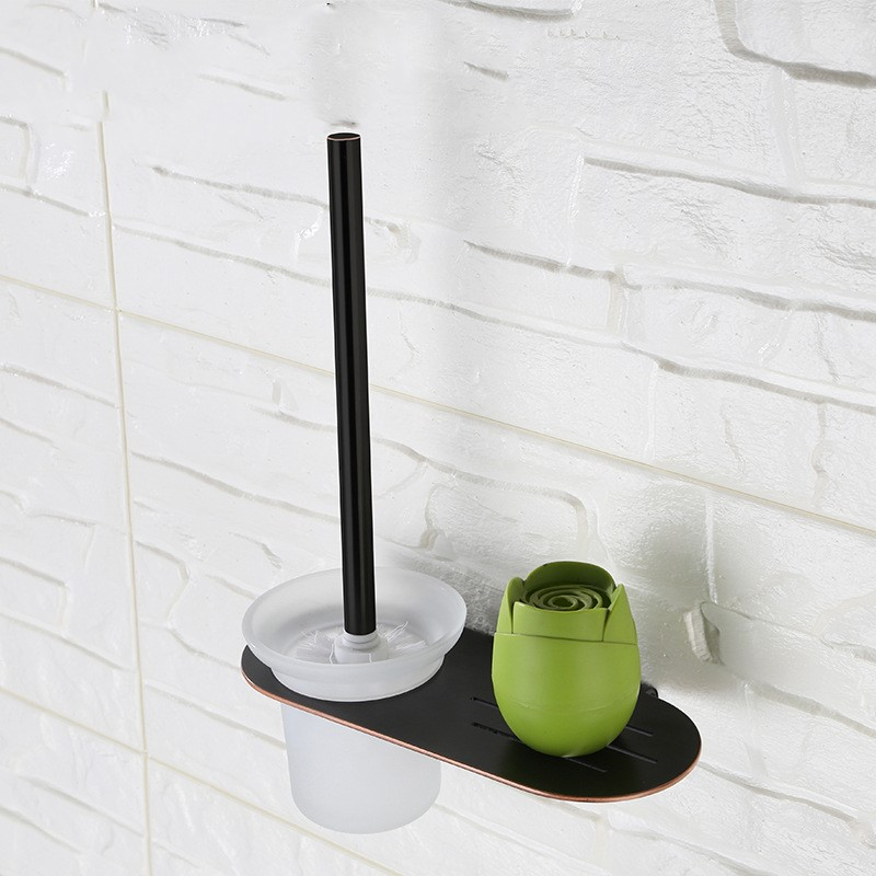 Oil Rubbed Bronze Black bathroom 260*125*355mm Toilet brush holder Unique design wall mounted stainless steel Bathroom Accessory цены