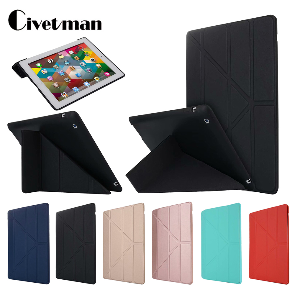 For Apple ipad 2 3 4 Case, Cover for New ipad 2, Flip Case for ipad 4, Smart Cover for ipad 3 Funda Thin Stand Holder Coque Case image