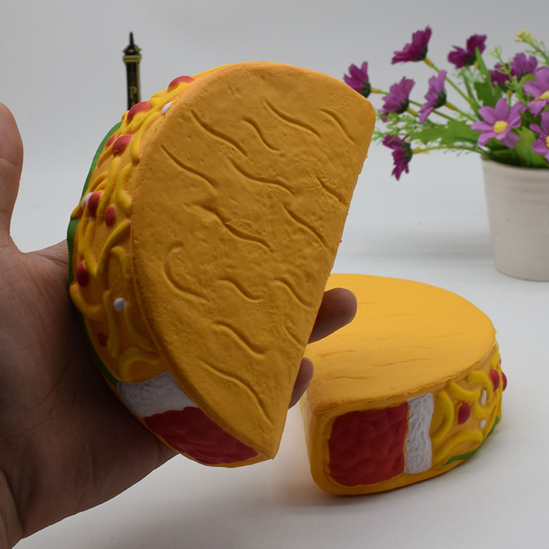Disciplined Kawaii Half Hamburger Squishy Slow Rising Jumbo Simulation Pizza Soft Cream Scented Bread Cake Strap Kid Fun Toy Gift P15 Pure White And Translucent Cellphones & Telecommunications