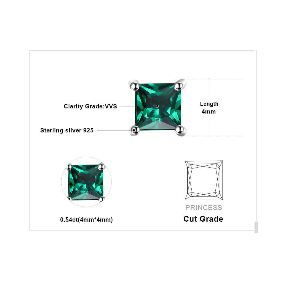 JewelryPalace สร้าง NANO Emerald Stud Earrings 925 เงินสเตอร์ลิงต่างหูอัญมณีเกาหลีต่างหูแฟชั่นเครื่องประดับ