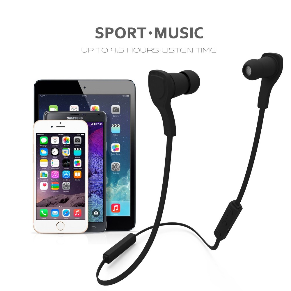 Wireless Headset Bluetooth BT-H06 stereo in-ear Sport Earphone headphones with Mic Handsfree for smartPhone can answer the call new wireless car charger usb interface bluetooth stereo headset answer call for phone mini adapter bt 4 1 earphone auto charging