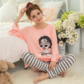 Autumn O-Neck Full Pajamas Pijama Pyjama Femme Home Clothing Pijamas Mujer Pijama Feminino Pijamas Entero