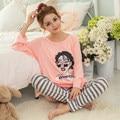 Autumn O-Neck Full Pajamas Pijama Pyjama Femme Home Clothing Pijamas Mujer Pijama Feminino Pijamas Entero
