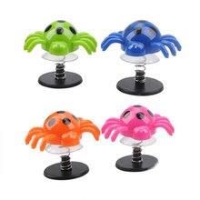 Детская Весенняя игрушка прыгающий паук цветной веселый прыгающий паук анти-стресс цвет случайный 2 шт реквизит подарки Вечерние