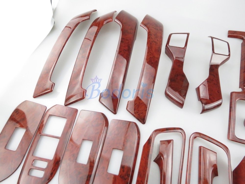 30 Pcs For Toyota Land Cruiser 150 Prado LC150 FJ150 2010 2017 Interior Wooden Moulding Trim Car Styling Prado Accessories in Chromium Styling from Automobiles Motorcycles
