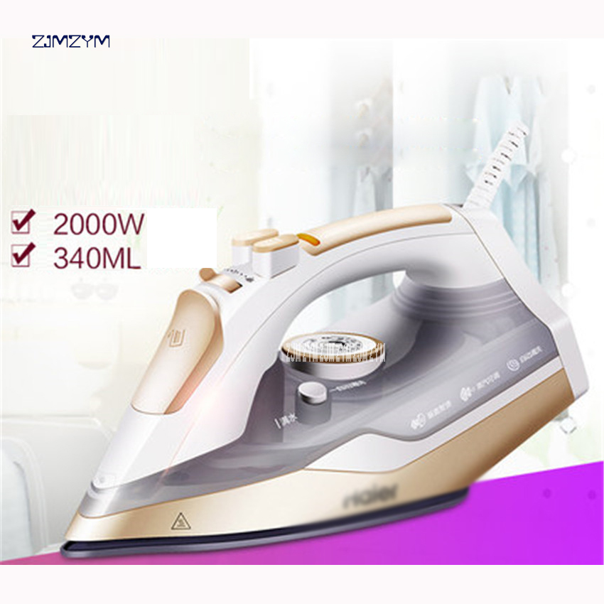 HY-Y2028G Household Steam Iron for Clothes 220v Ceramic Selfcleaning Steamer Iron Clothing Burst of Steam Controler Wire Ironing portable garment steamer 1000w handheld clothes steam iron machine steam brush mini household ironing for for fabrics clothes