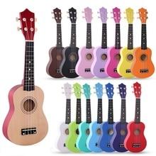 21 дюймов Гавайские гитары Укулеле сопрано липа акустическая нейлоновая 4 струны укулеле красочные мини-гитары для детей подарок со струнами и медиаторами