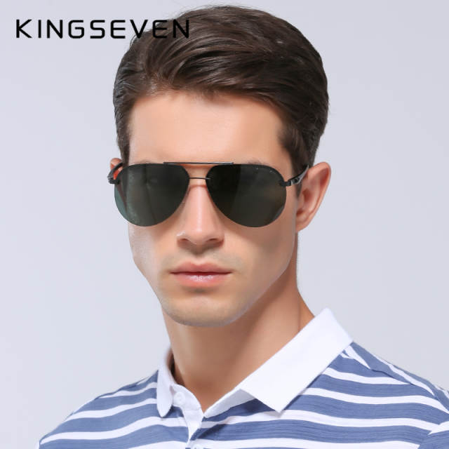 930f5077602 placeholder KINGSEVEN Aluminum Magnesium Polarized Sunglasses Men Driver  Mirror Sun glasses Male Fishing Female Eyewear For Men