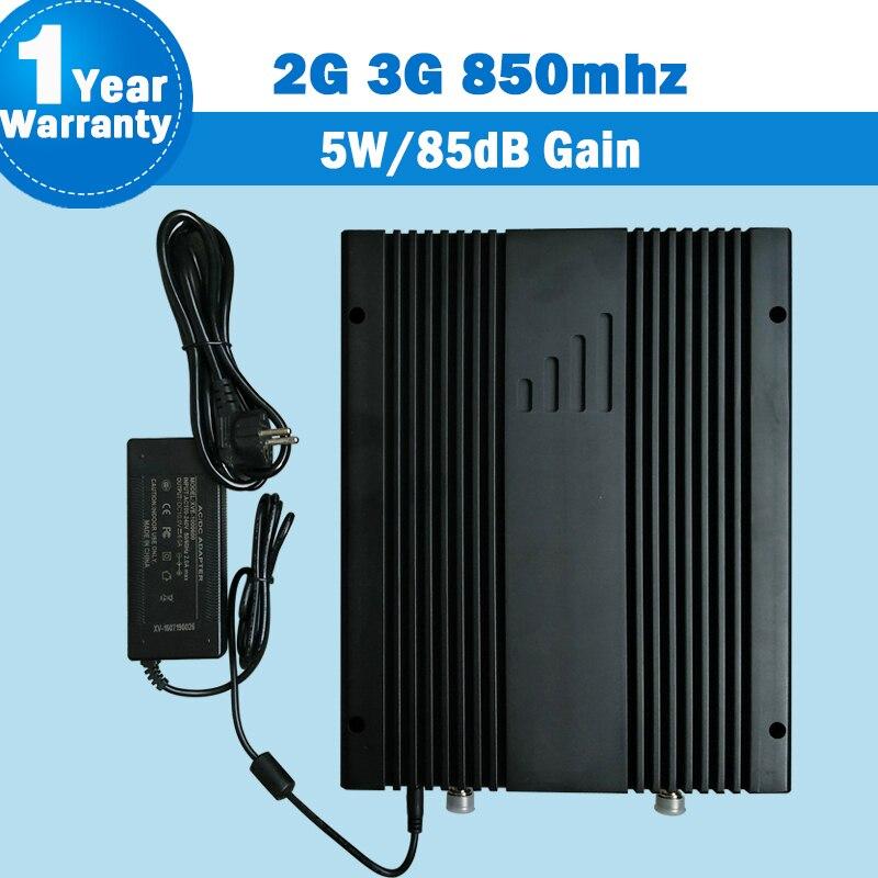 Lintratek 85dB haut Gain 5 W souper amplificateur de puissance 2G 3G GSM CDMA 850 mhz téléphone portable 850 Signal Booster répéteur Mobile répéteur 5