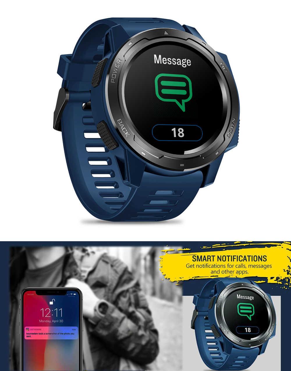 Zeblaze فيبي 5 ساعة ذكية الرجال 1.3 شاشة ملونة عداد الخطى سوار لياقة بدنية المقتفي IP67 مقاوم للماء مراقب معدل ضربات القلب Smartwatch