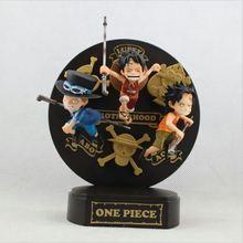 Anime One Piece Cute Monkey Luffy Sabo Ace Childhood Mera Mera no Mi 15CM PVC Action Figure Toy Collection Model