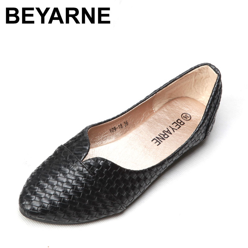 BEYARNE Free shipping 2018 new European and American women casual shoes retro Punt pointed shoes large size :35-41 dreambox simple european and american sports leather retro style hand made coarse shoes casual shoes