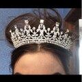 Branco/vermelho de Noiva Coroas Headbands Acessórios Para o Cabelo nupcial Do Casamento da Tiara do Baile de Finalistas Nupcial Headpiece da coroa Imperial