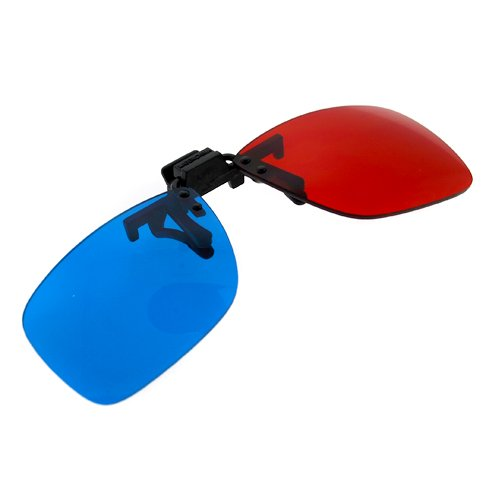 2Pcs Red Blue 3D Plastic Glasses for 3D Movie Game Red for Left Blue for Right